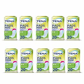 TENA Lady Discreet Mini CASE SAVER (10 x Pack of 20)