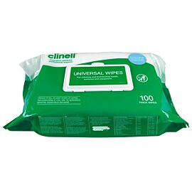 Clinell Universal Disenfectant Wipes - Pack of 100