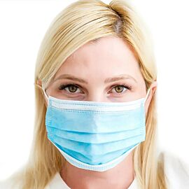 Disposable Fluid Resistant Face Masks (Type 11R) - Pack of 50