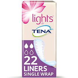 Lights by TENA Liners - Single Wrap   Pack of 22