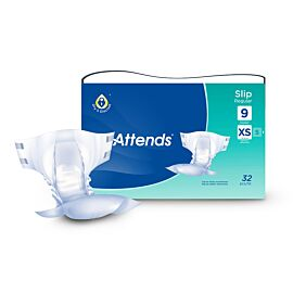 Attends Slip Regular 9 Extra Small | Pack of 32