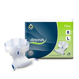 Attends Flex 8 Large | 1700-2099mls | Pack of 28 | 85-125cm