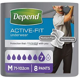 Depend Active-fit Underwear for Men Medium | Pack of 8