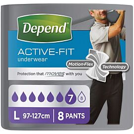 Depend Active-fit Underwear for Men Large | Pack of 8