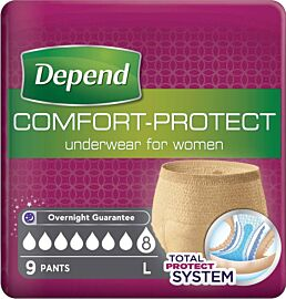 Depend Comfort Protect Pants for Women Large | Pack of 9