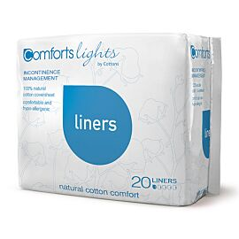 Cottons Comforts Pantyliners   Pack of 20