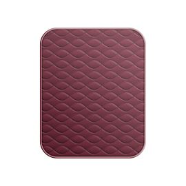 Deluxe Plain Maroon Chair Pad 53x58cm Large
