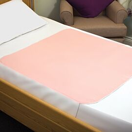 Sonoma Double Bed Pad With Flaps 90x135cm Pink | 4000mls