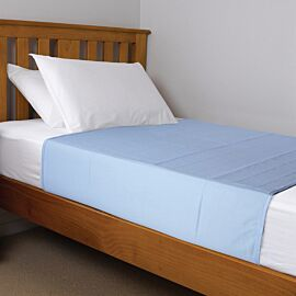 Brolly Sheets Washable Bed Pad Double | Blue | Pack of 1