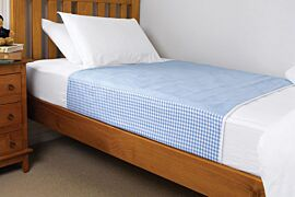 Brolly Sheets Washable Bed Pad Single | Blue | Pack of 1