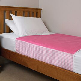 Brolly Sheets Washable Bed Pad Single | Pink | Pack of 1