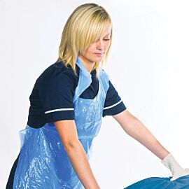 Polythene Aprons | Blue | Roll 200