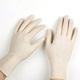 Latex Powder Free Gloves Large | Pack of 100