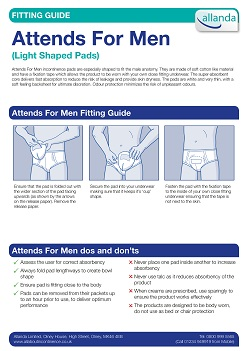 Attends For Men fitting guide